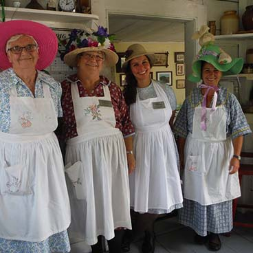 Group attending the Mad Hatters Tea Party earlier this year