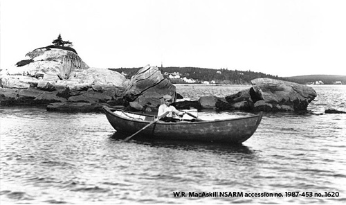 Man in Dory, Jeddore, NS